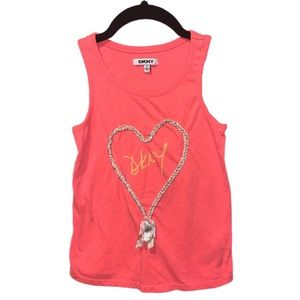 DKNY Coral Heart Tank Top - S